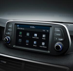 Touchscreen für das Audiosystem