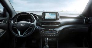 Ansicht Cockpit im SUV Hyundai Tucson