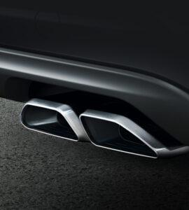Verchromte Schalldämpferendrohre am Hyundai Tucson