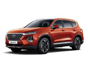 Seitliche Ansicht des Hyundai Santa Fe