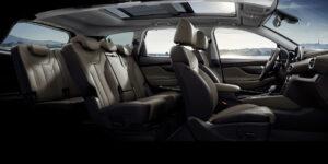 Innenansicht des SUV Santa Fe von Hyundai