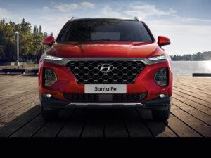 Frontansicht des SUV all-new Santa Fe von Hyundai