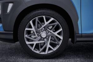 Nahaufnahme Felge Hyundai Kona hybrid