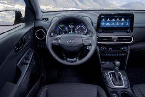 Ansicht Cockpit Hyundai Kona hybrid Fahrerseite