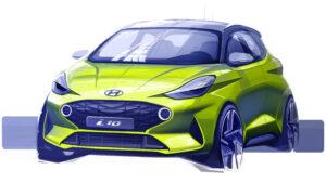 Hyundai i10 Designskizze MY2020