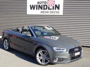 Audi A3 Cabriolet in grau bei Auto Arena in Luzern
