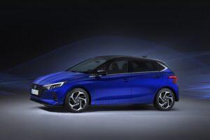 Seitlich - frontale Ansicht des neuen Hyundai i20