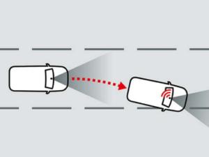 Grafik Mitsubishi Spurverlassenswarnung