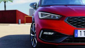 Detailansicht Frontscheinwerfer neuer SEAT Leon