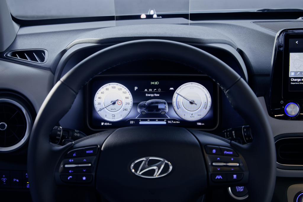 New Hyundai Kona Electric Nahaufnahme Cockpit Auto Windlin