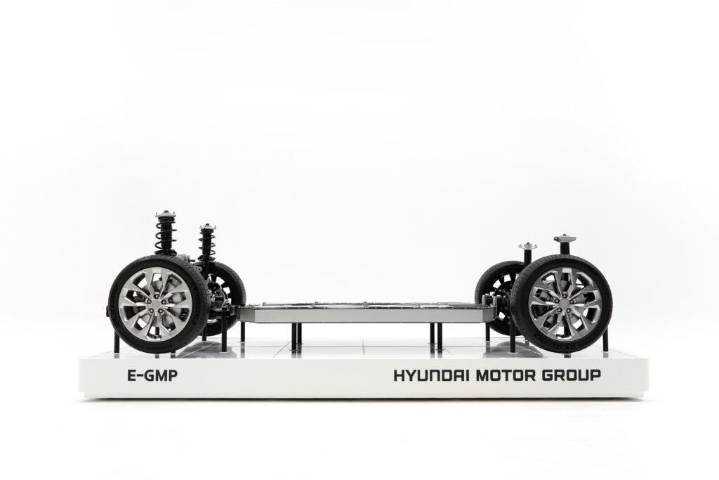 Hyundai E-GMP Grundplattform Ansicht ohne Aufbau