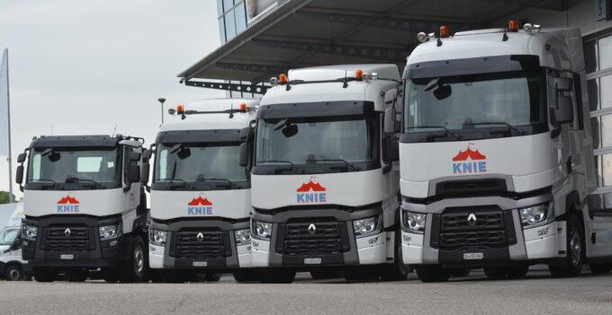 Zirkus Knie tourt mit Renault Trucks